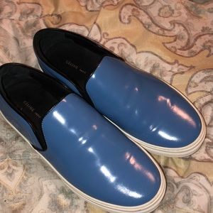 Celine patent leather slip on sneaker